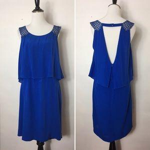 Sandro Paris Blue Sleeveless Tiered Dress